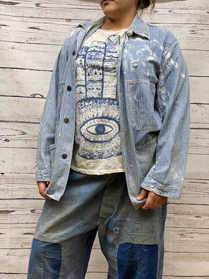 Magnolia Pearl Specialty Jacket 121 Denim Railroad Jacket - One of a Kind