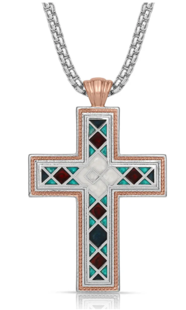 Montana Silversmith American Legends Mosaic Cross Necklace - In Stock