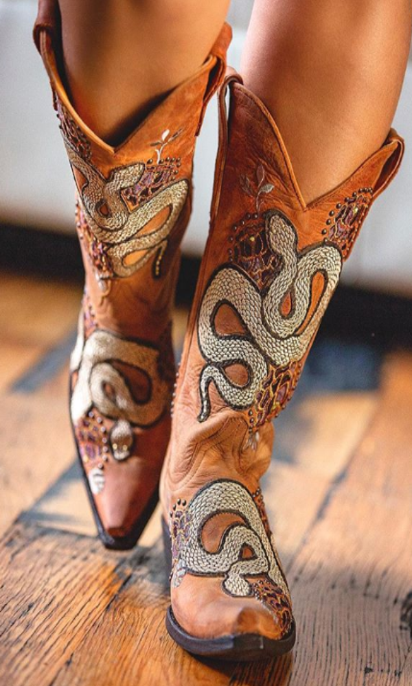Old Gringo Currie Snake Boots~ Brass - Cowgirl Kim