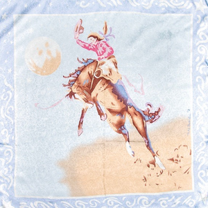 Wyoming Traders Blake Blue Limited Edition Silk Wild Rag