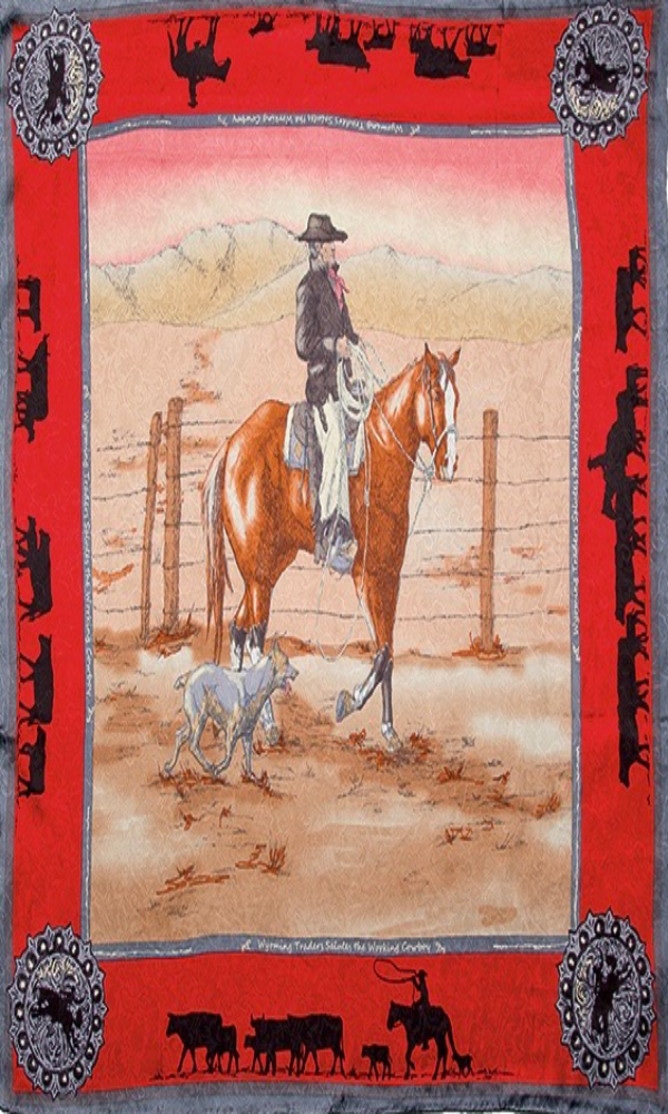 Wyoming Traders Anniversary Bay Red Limited Edition Silk Wild Rag