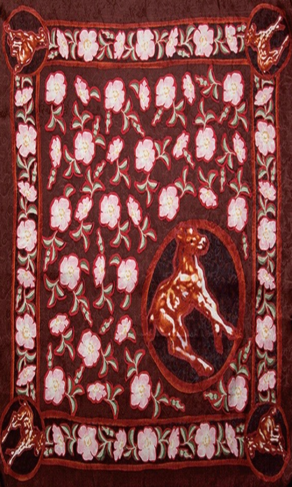 Wyoming Traders Colts and Roses Limited Edition Silk Wild Rag