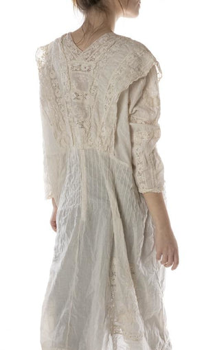 Magnolia Pearl Dress 591 Batiste Embroidered Tea Dress - Moonlight