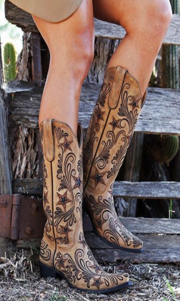 Yippee Ki Yay by Old Gringo Blaze Boots~ Champagne   Style YL353-1 - Cowgirl Kim
