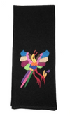 Nativa Hand Embroidered Black Bird Tea Towels - Cowgirl Kim
