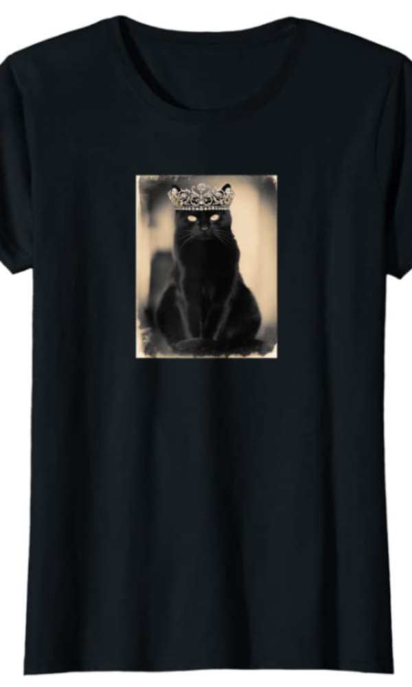 "Cowgirl Kim ""Jadis"" Black Cat Royalty Tee"