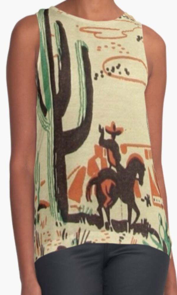 Cowgirl Kim Retro Vaquero Sleeveless Top