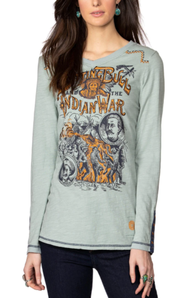 Double D Ranch Sitting Bull & The Indian War Top