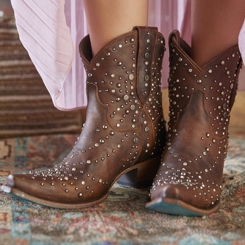 Lane Sparks Fly Ladies Ankle Bootie~ Cognac #LB0444C