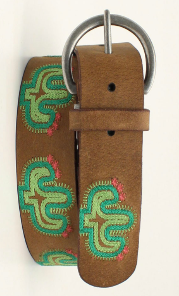 Ariat Embroidered Cactus Belt
