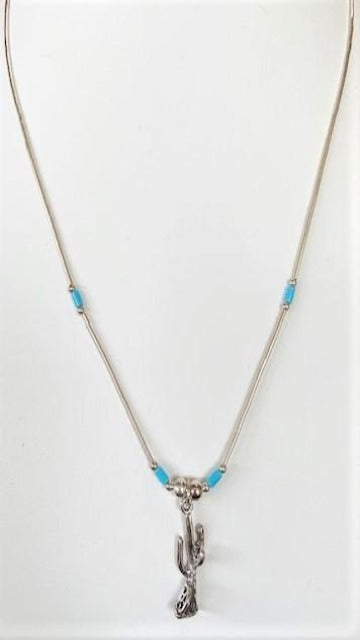 Sunwest Jewelry~ Small Cactus Necklace - Cowgirl Kim