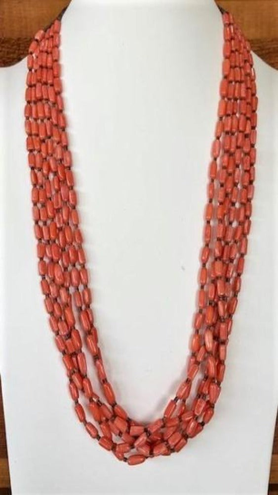 Vicki Orr 6 Strand Spiny Oyster and Heshi Bead Necklace - Cowgirl Kim