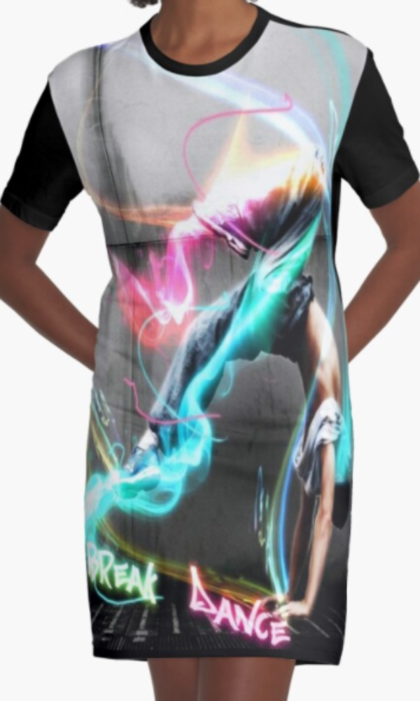Cowgirl Kim Break Dance Graphic Tee Dress