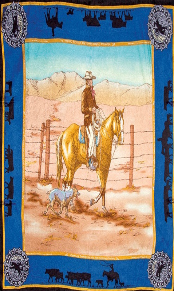 Wyoming Traders Anniversary Palomino Blue Limited Edition Silk Wild Rag