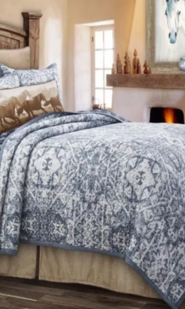 Cowgirl Kim Reversible Skyler Quilt Set - Cowgirl Kim