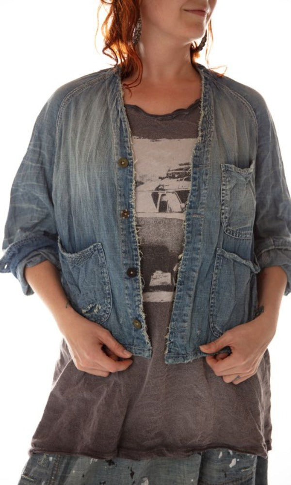 Magnolia Pearl Jacket 283 Denim Cosmik Union Cropped Jacket - Indigo