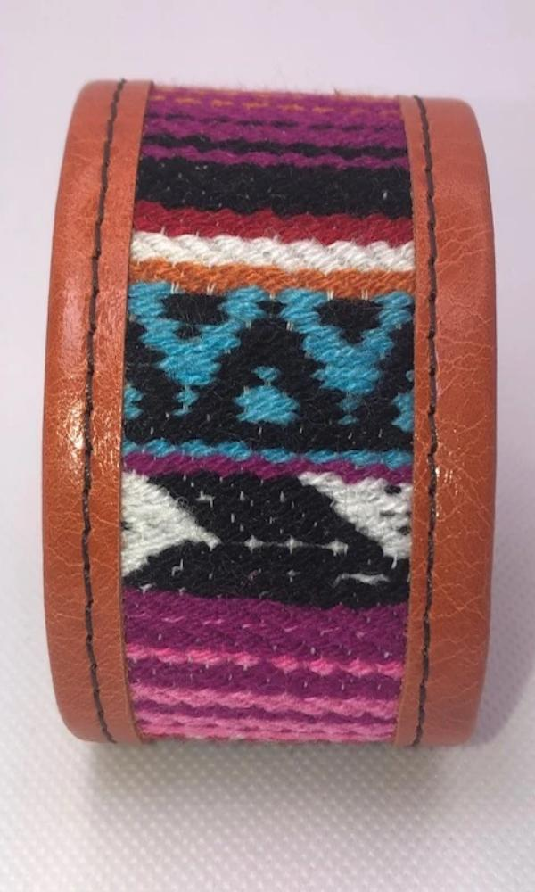 KurtMen Blazin Orange Serape Leather Cuff - Cowgirl Kim