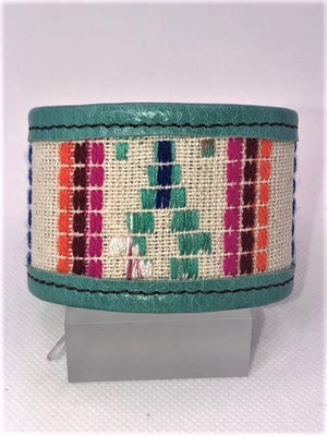 KurtMen Laredo Serape Leather Cuff - Cowgirl Kim