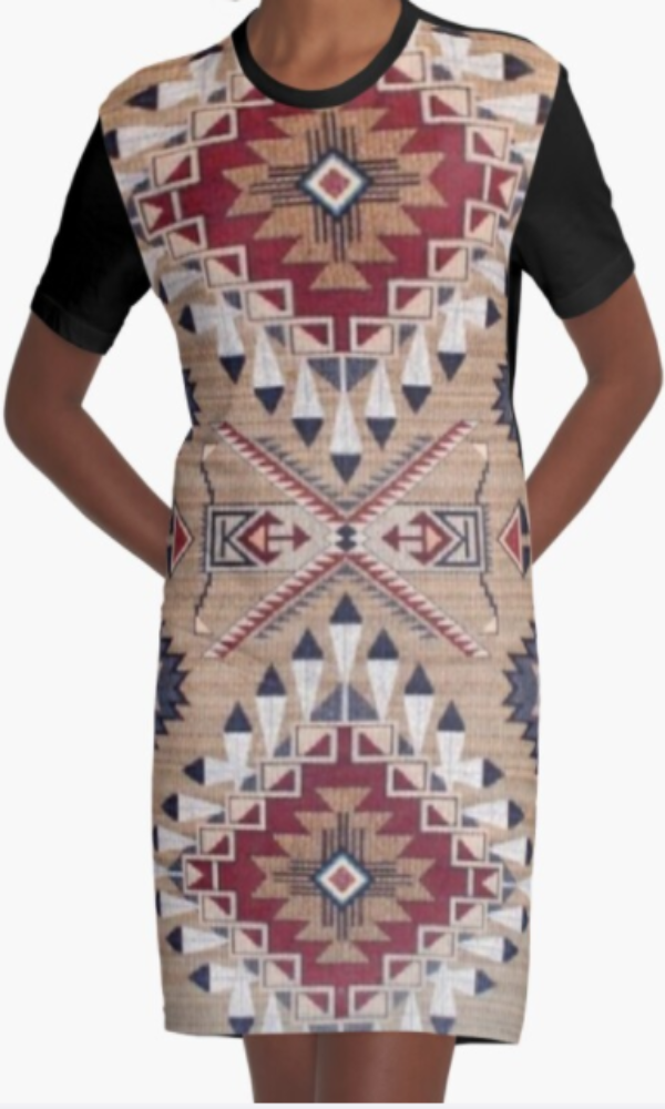 Cowgirl Kim Bison Ridge Graphic Tee Dress - Large Only