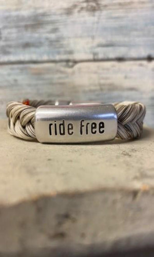 Cowboy Collectibles Ride Free Magnetic Clasp Bracelets - Light Grey