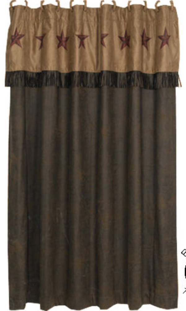 Cowgirl Kim Rustic Star Shower Curtain*
