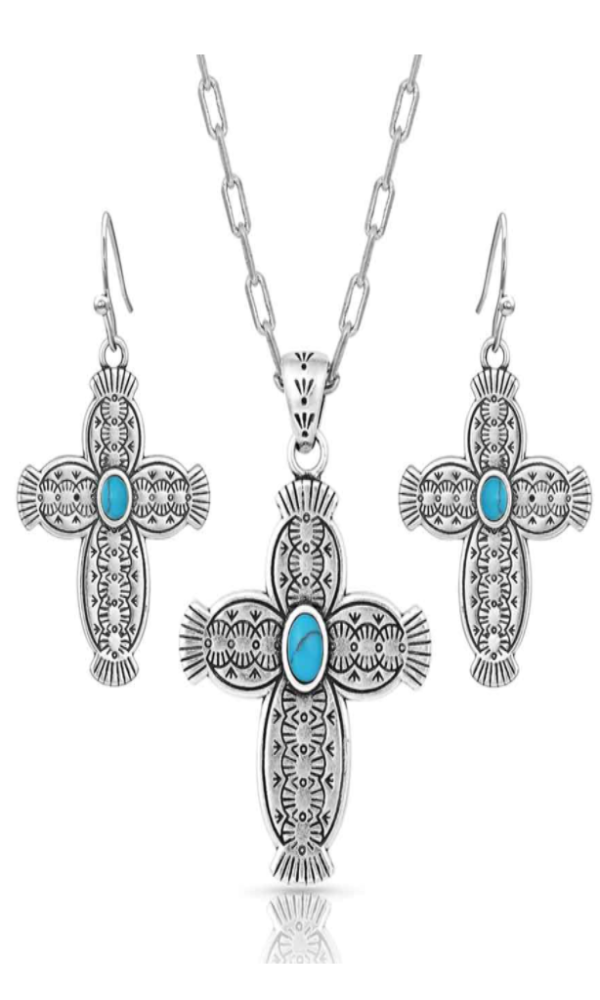 Montana Silversmith Royal Western Cross Jewelry Set - In Stock