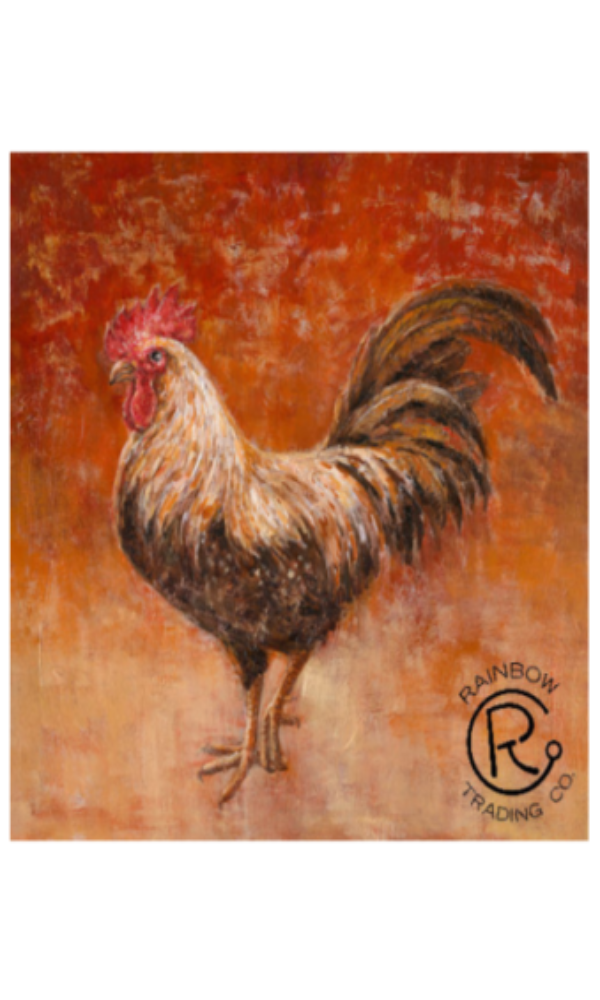 Cowgirl Kim Red Rooster Canvas Painting*