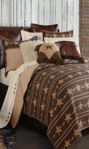 Cowgirl Kim Star Ranch Reversible Quilt Set - Cowgirl Kim