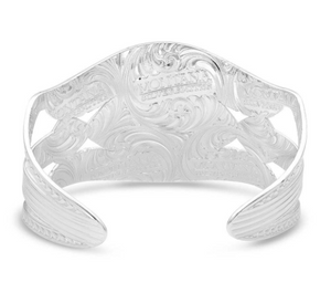 Montana Silversmith Courage & Strength Feather Cuff Bracelet