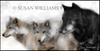 Susan Williams 3 Wolves Photograph on Canvas