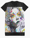 Cowgirl Kim Abstract Beauty Graphic Tee Dress