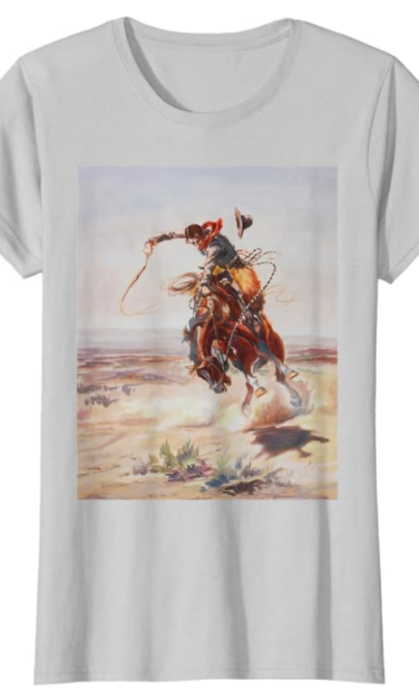 Cowgirl Kim Cowboy and Bucking Horse Tee