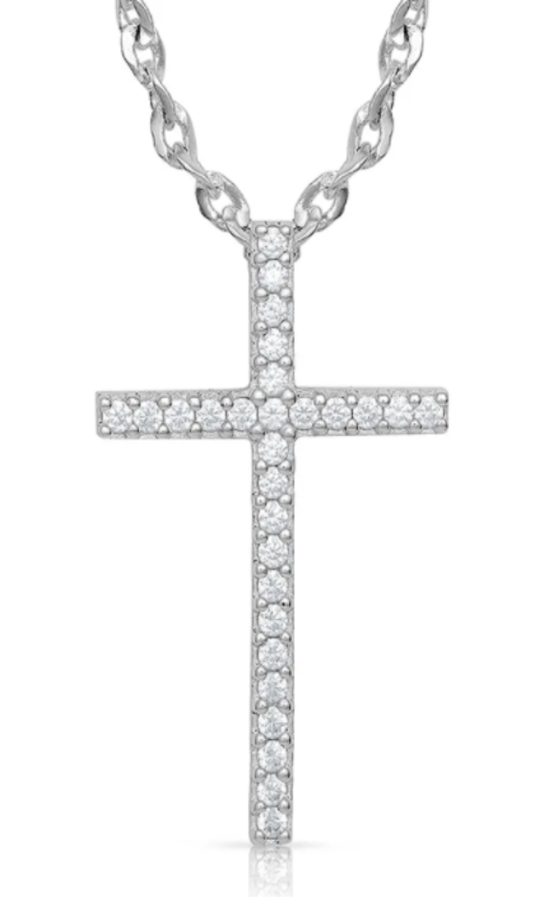 Montana Silversmith Dazzling in Faith Cross Necklace - In Stock
