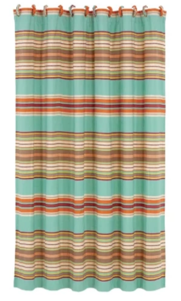 Cowgirl Kim Serape Shower Curtain - Cowgirl Kim