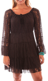 Honey Creek by Scully Boho Lace Dress - Chocolate