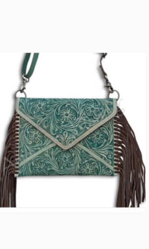 American Darling Tooled Turquoise Crossbody