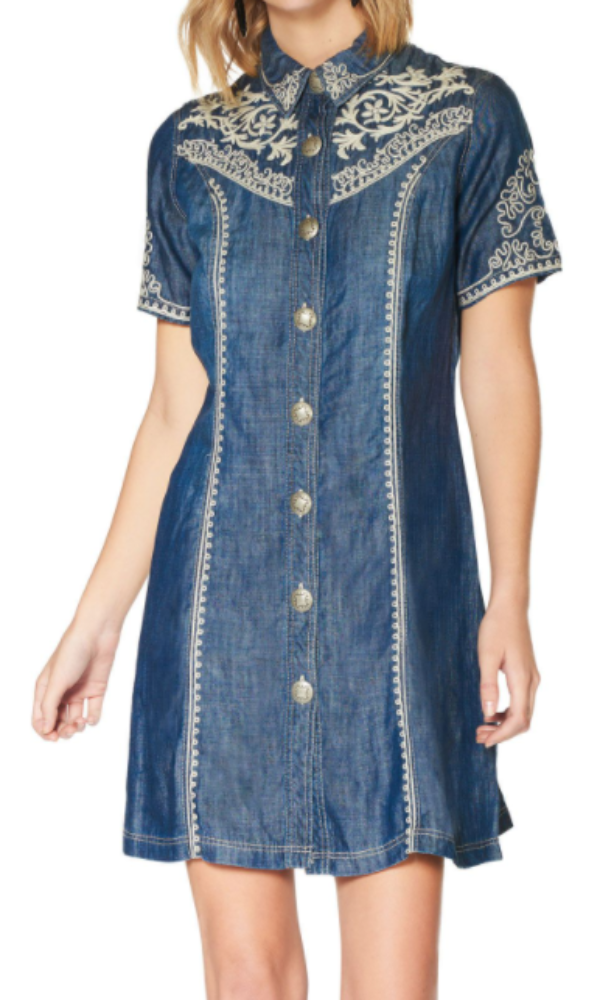 Double D Ranch Alvarez Denim Dress - Pre Order