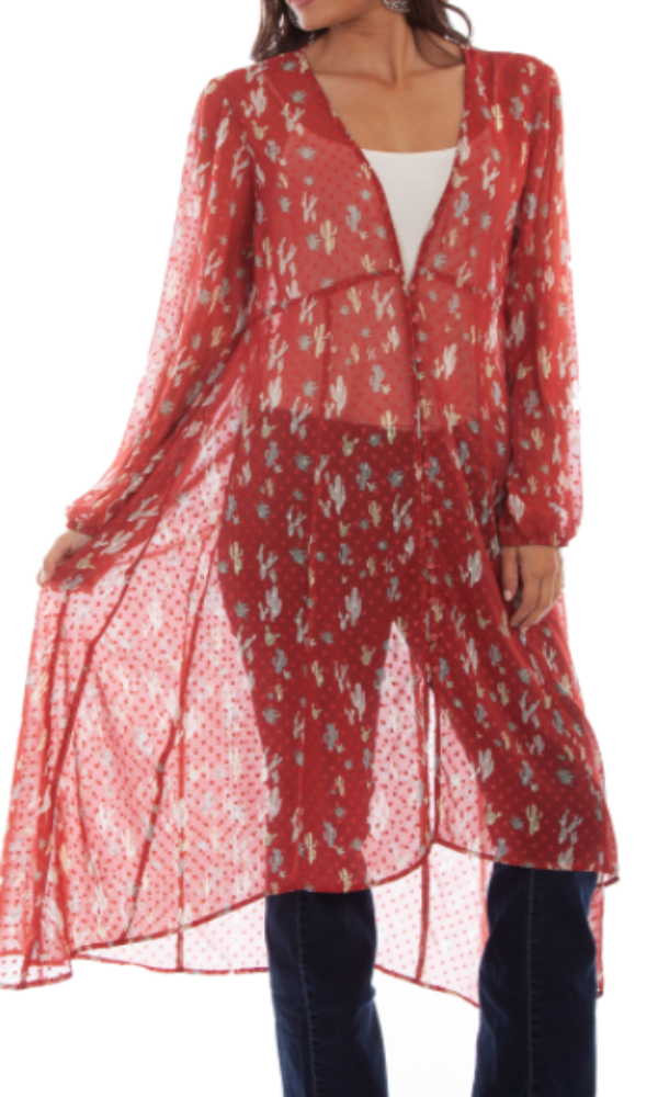 Honey Creek by Scully Printed Swiss Dot Duster