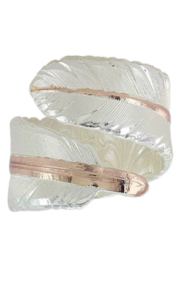 Montana Silversmith Rose Gold Filament Feather Ring