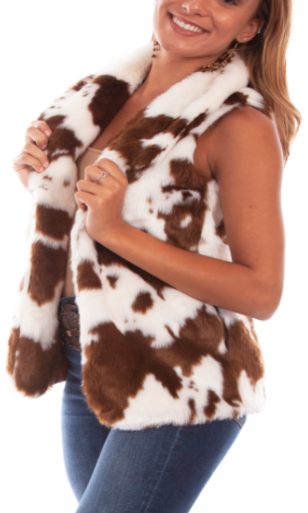 Honey Creek by Scully Faux Fur Calf Vest - Large Only
