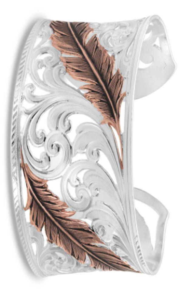 Montana Silversmith Heavenly Whispers Feather Cuff Bracelet