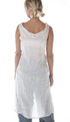 Magnolia Pearl Slip 112 Linen Luz Lace Collar Slip Dress- Moonlight