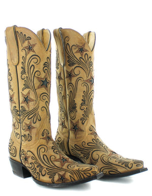 Yippee Ki Yay by Old Gringo Blaze Boots~ Champagne   Style YL353-1