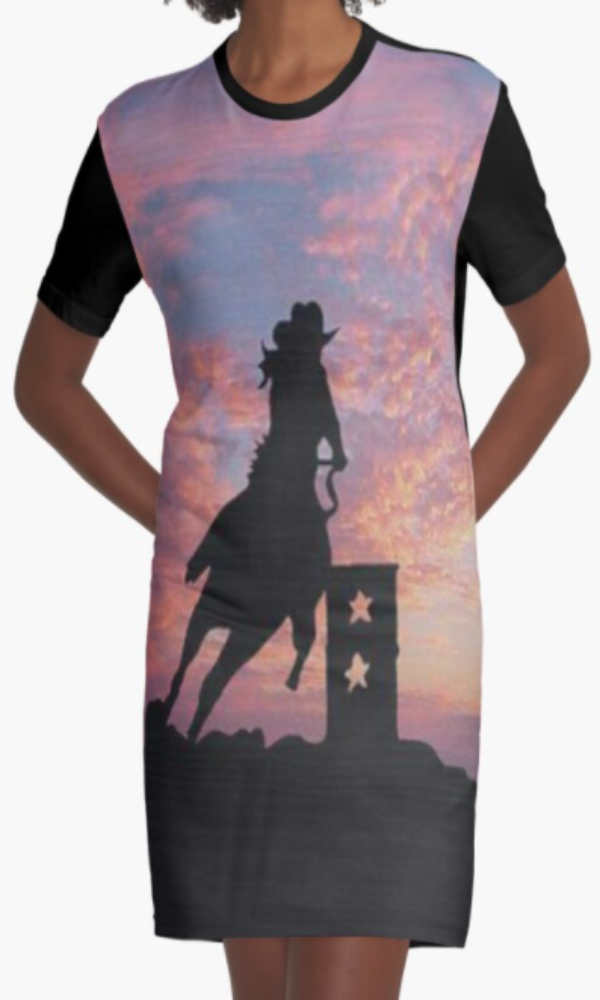 Cowgirl Kim Hard Work Makes a Winner Graphic Tee Dress