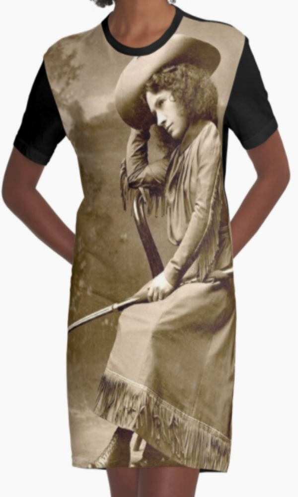Cowgirl Kim Annie Oakley Graphic Tee Dress