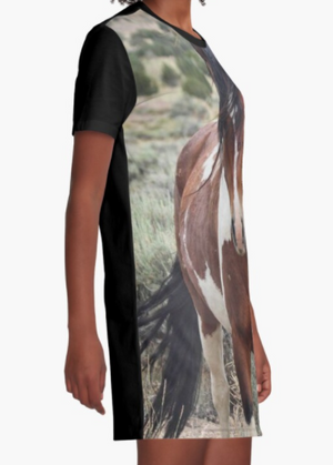 Cowgirl Kim Wild Stallion Graphic Tee Dress