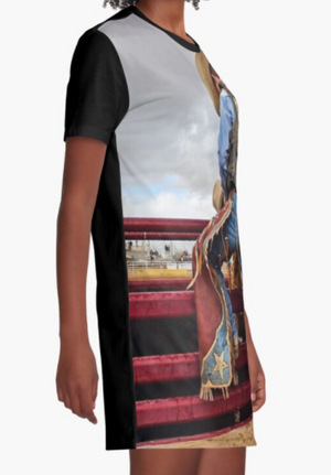 "Cowgirl Kim ""Anticipation"" Graphic Tee Dress"