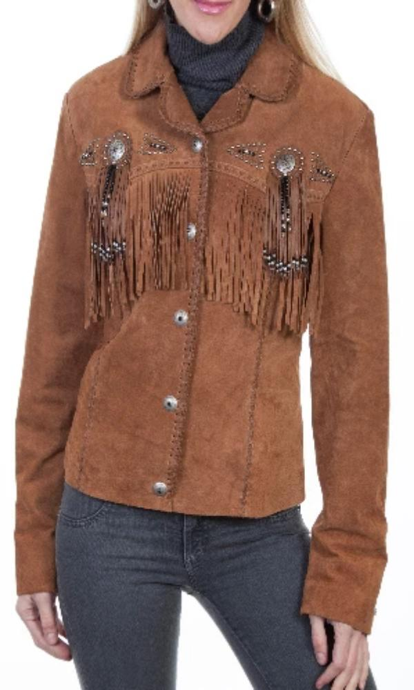 Scully Boar Suede Beaded Fringe Jacket~ Cinnamon