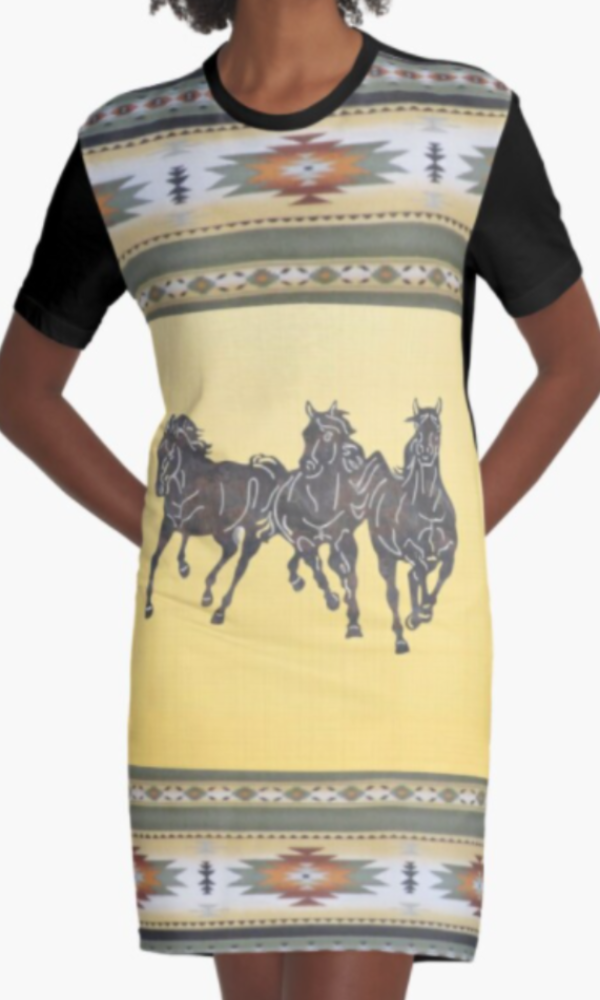 Cowgirl Kim Running Wild Tee Dress - In Stock