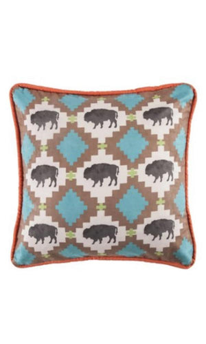 Cowgirl Kim Serape Collection Reversible Buffalo Pillow - Cowgirl Kim